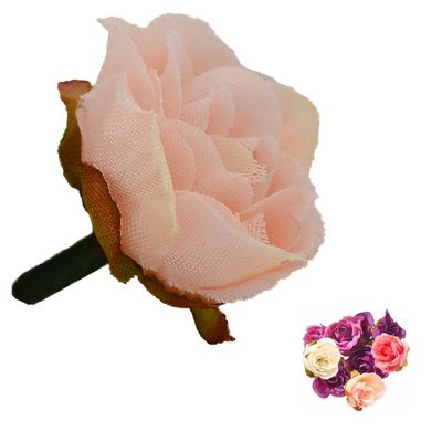 5 x Deko Rose / Rosenblüte / Rosenkopf ca. 2,5 cm, verschiedene Farben Farbwahl – Bild 8