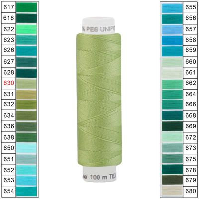 100m / 1 Spule Unipoly 120 TEX14x2 Polyester Nähgarn Artikel 4v6 Farbwahl – Bild 9