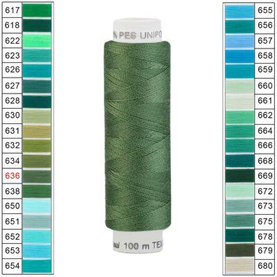 100m / 1 Spule Unipoly 120 TEX14x2 Polyester Nähgarn Artikel 4v6 Farbwahl – Bild 1