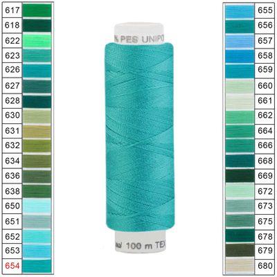 100m / 1 Spule Unipoly 120 TEX14x2 Polyester Nähgarn Artikel 4v6 Farbwahl – Bild 18
