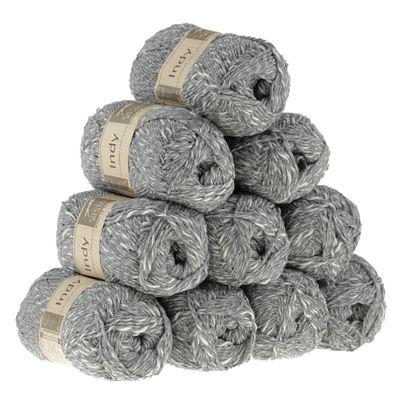 10 x 50g Recycling-Wolle Strickgarn INDY  – Bild 2