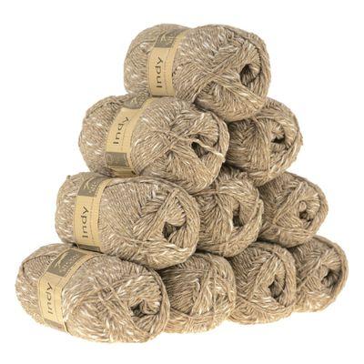 10 x 50g Recycling-Wolle Strickgarn INDY  – Bild 6