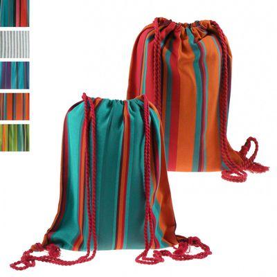 Rucksack Turnbeutel Gym Sack Sporttasche Sportbeutel Beutel Bio-Baumwolle Handmade – Bild 6