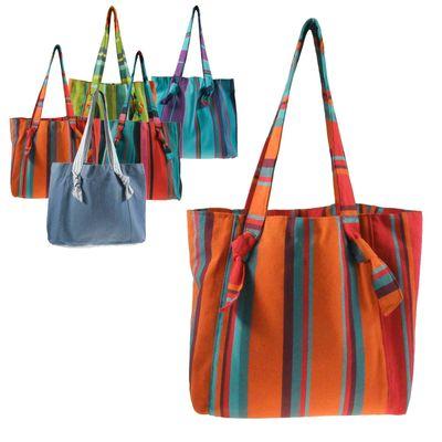 Umhängetasche Bio-Baumwolle Fair Trade handmade - Einkaufstasche Shopper Strandtasche – Bild 10