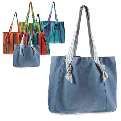Umhängetasche Bio-Baumwolle Fair Trade handmade - Einkaufstasche Shopper Strandtasche – Bild 8