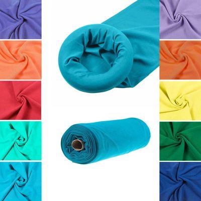 10 x 25cm Bündchenstoff uni Jersey, Bündchen, 35cm breit, Schlauchware, Farbmix – Bild 3