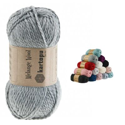 100g Strickgarn Kartopu Melange Wool Strick-Wolle Garn Häkelgarn Wolle Farbwahl – Bild 11