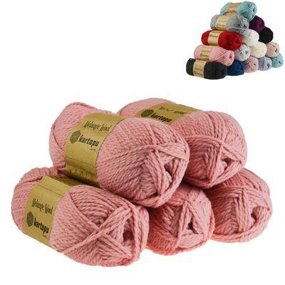 5 x 100g Strickgarn Kartopu Melange Wool Strick-Wolle Garn Häkelgarn Wolle Farbwahl – Bild 6
