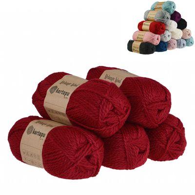 5 x 100g Strickgarn Kartopu Melange Wool Strick-Wolle Garn Häkelgarn Wolle Farbwahl – Bild 10