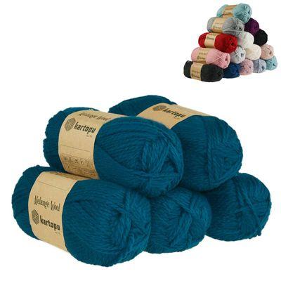 5 x 100g Strickgarn Kartopu Melange Wool Strick-Wolle Garn Häkelgarn Wolle Farbwahl – Bild 9