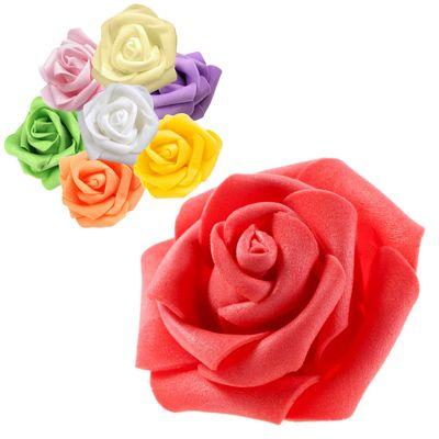 10 Deko-Rosen Schaumrosen Rosenblüten Rosenkopf 6cm viele tolle Farben Hochzeitsdeko – Bild 1