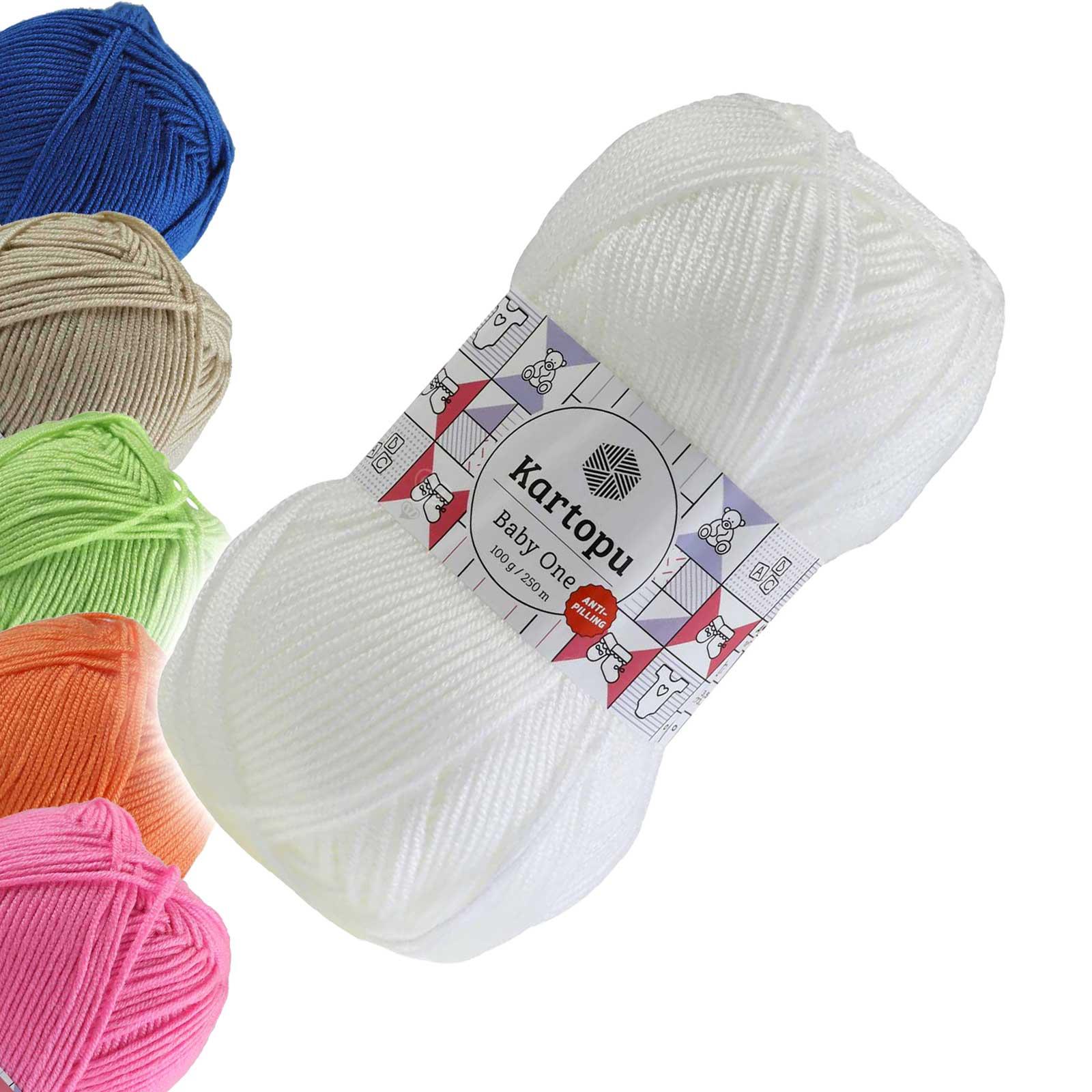 100g Strickgarn Kartopu BABY ONE Antipilling Babywolle Babystrickgarn, Farbwahl – Bild 3