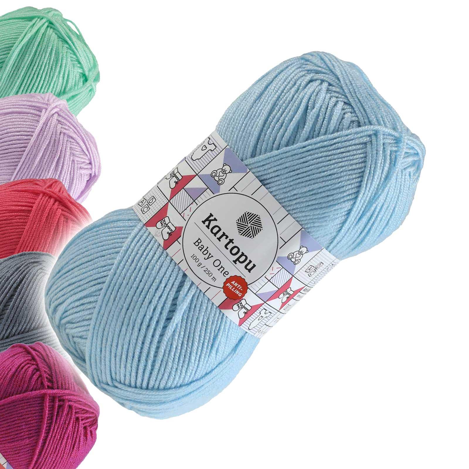 100g Strickgarn Kartopu BABY ONE Antipilling Babywolle Babystrickgarn, Farbwahl – Bild 22