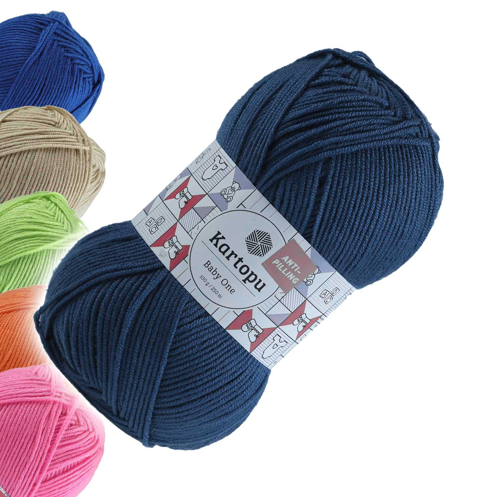 100g Strickgarn Kartopu BABY ONE Antipilling Babywolle Babystrickgarn, Farbwahl – Bild 12