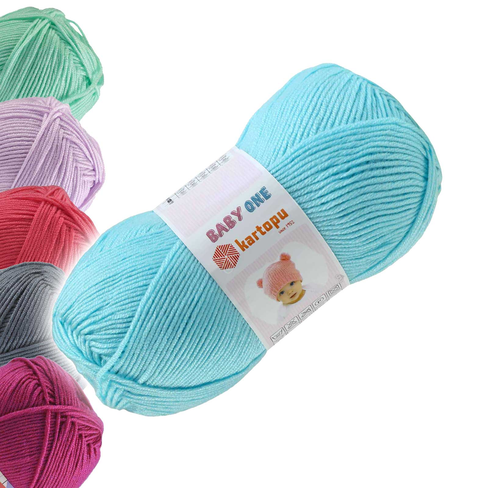 100g Strickgarn Kartopu BABY ONE Antipilling Babywolle Babystrickgarn, Farbwahl – Bild 24