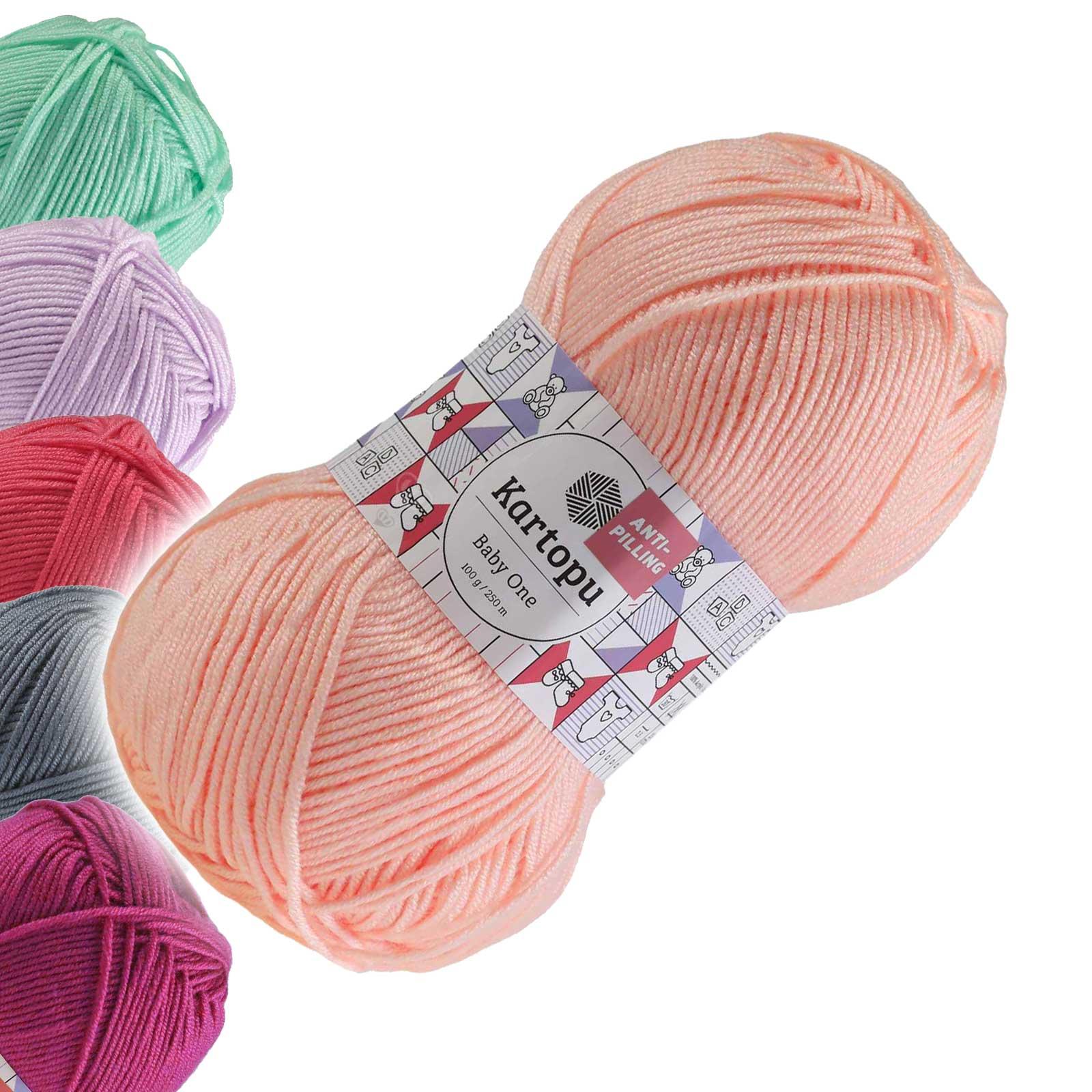 100g Strickgarn Kartopu BABY ONE Antipilling Babywolle Babystrickgarn, Farbwahl – Bild 25