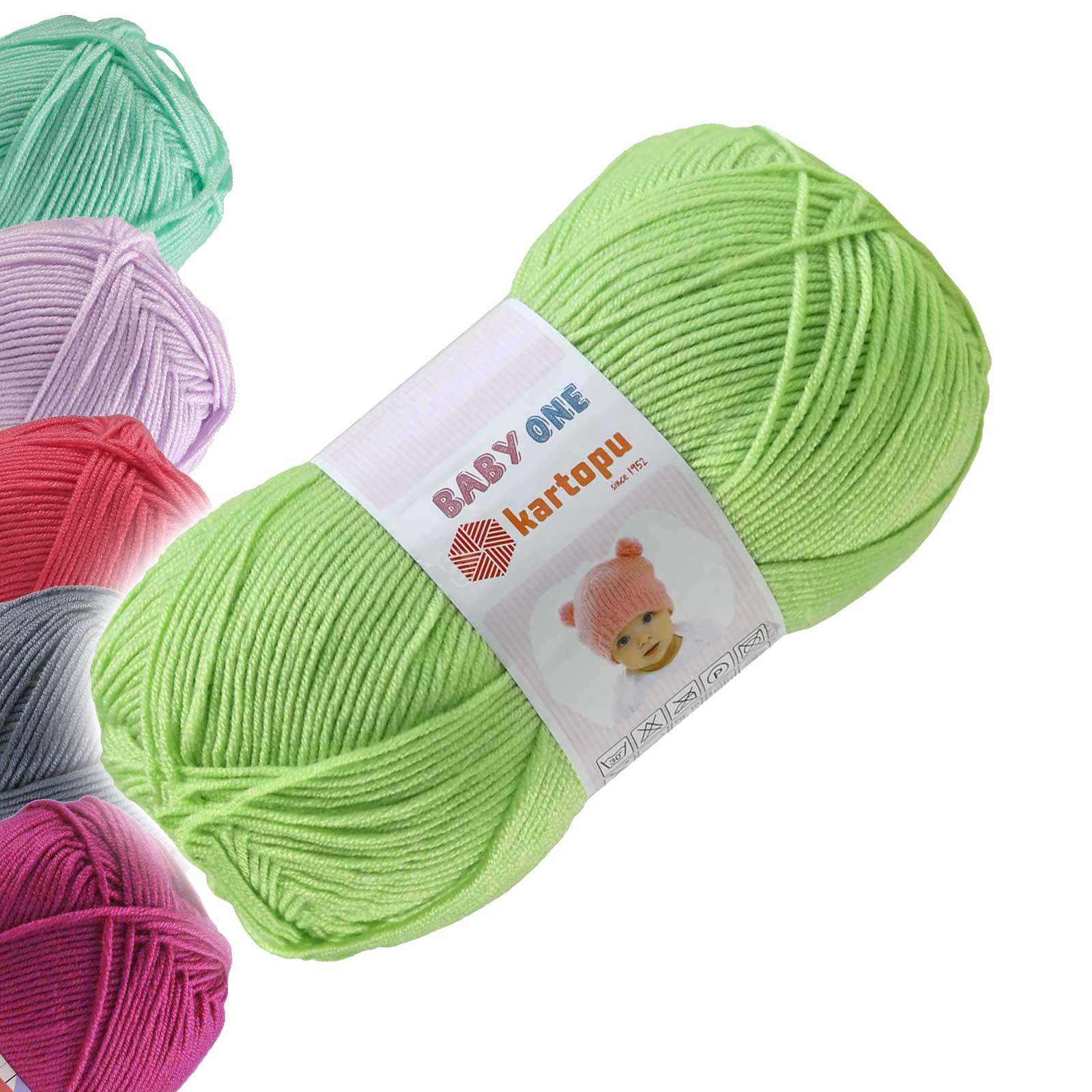 100g Strickgarn Kartopu BABY ONE Antipilling Babywolle Babystrickgarn, Farbwahl – Bild 19