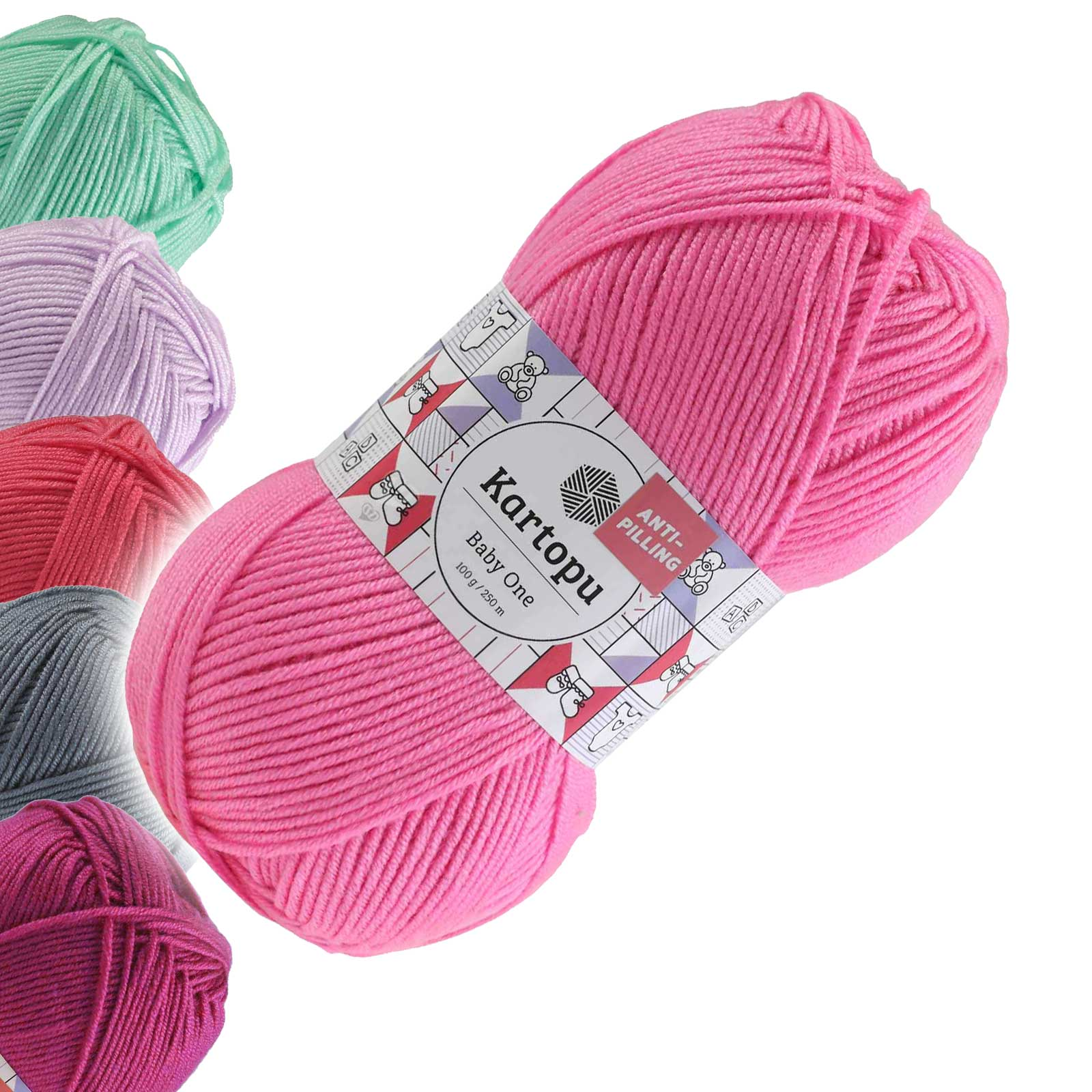 100g Strickgarn Kartopu BABY ONE Antipilling Babywolle Babystrickgarn, Farbwahl – Bild 20