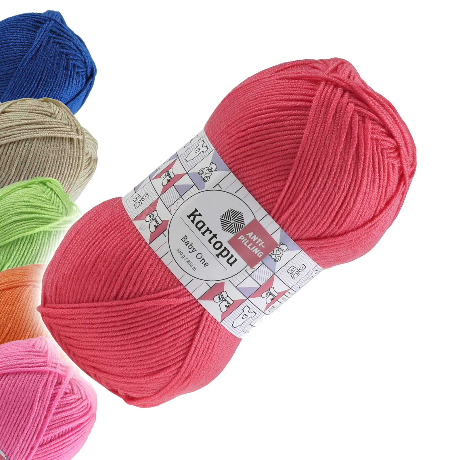 100g Strickgarn Kartopu BABY ONE Antipilling Babywolle Babystrickgarn, Farbwahl – Bild 13