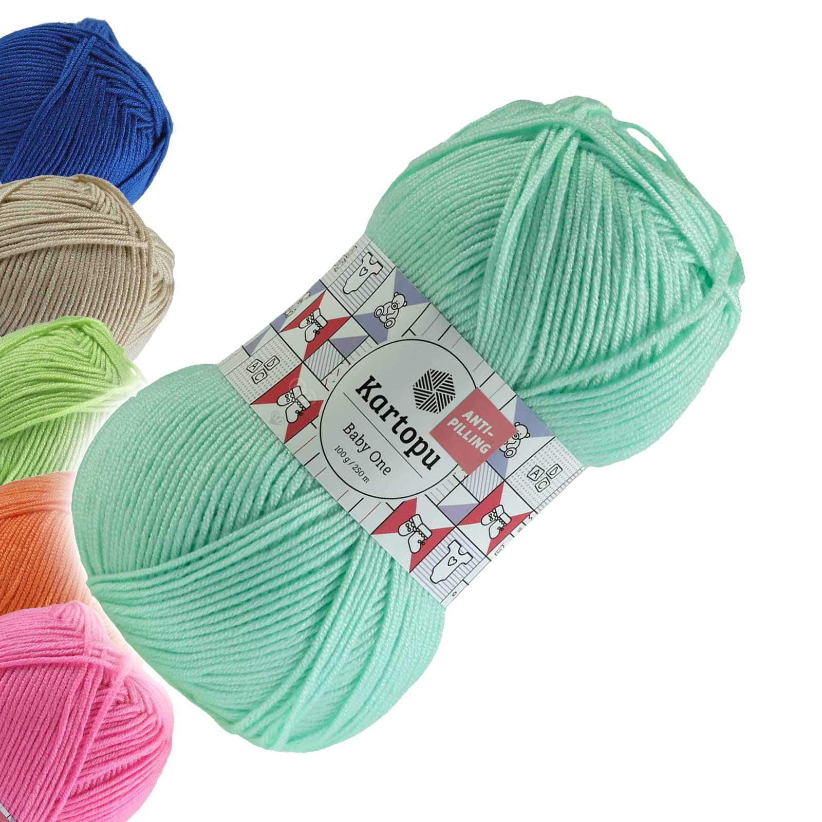 100g Strickgarn Kartopu BABY ONE Antipilling Babywolle Babystrickgarn, Farbwahl – Bild 4