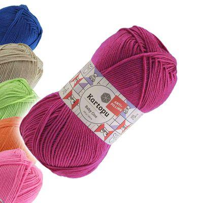 100g Strickgarn Kartopu BABY ONE Antipilling Babywolle Babystrickgarn, Farbwahl – Bild 15