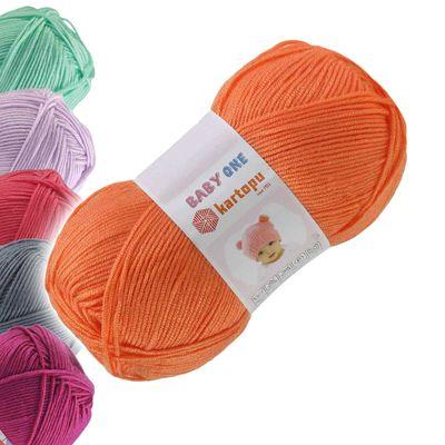 100g Strickgarn Kartopu BABY ONE Antipilling Babywolle Babystrickgarn, Farbwahl – Bild 16