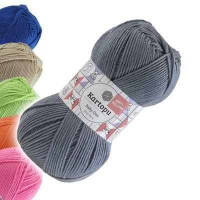100g Strickgarn Kartopu BABY ONE Antipilling Babywolle Babystrickgarn, Farbwahl – Bild 5