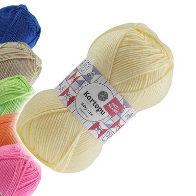 100g Strickgarn Kartopu BABY ONE Antipilling Babywolle Babystrickgarn, Farbwahl – Bild 8