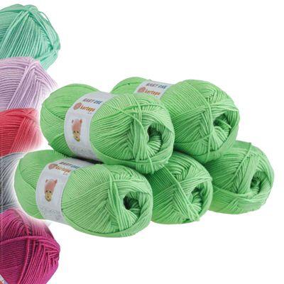 5 x 100g Strickgarn Kartopu BABY ONE Antipilling Babywolle Babygarn, Farbwahl – Bild 21