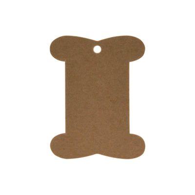 50 stabile Wickelkarten Papierkarte 8x10,5cm, natur braun - Blisterkarte – Bild 1