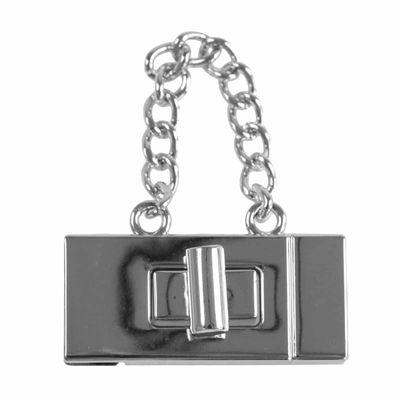 2 x Metall Dreh Verschluss 19x42mm Mappen Handtaschenverschluss Steckschließe – Bild 13