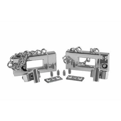 2 x Metall Dreh Verschluss 19x42mm Mappen Handtaschenverschluss Steckschließe – Bild 4
