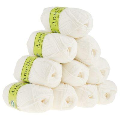10 x 50g Strickgarn AMELIE Strick-Wolle Handstrickgarn Baby Kinder waschbar – Bild 14
