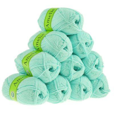 10 x 50g Strickgarn AMELIE Strick-Wolle Handstrickgarn Baby Kinder waschbar – Bild 7