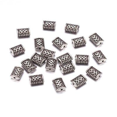 50 Metall-Perlen 7,5x5,5mm Durchzug 1mm Perle Metallperle Spacer Geschenkanhänger – Bild 1