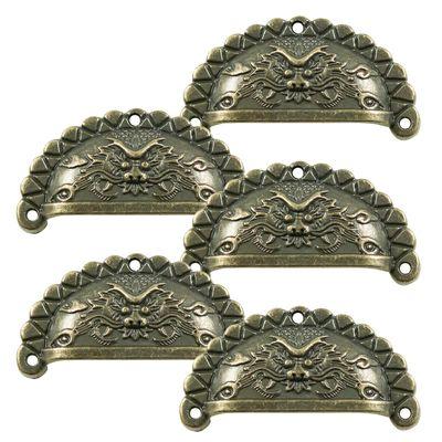 5 Muschel-Griffe Schubladengriffe Möbelgriffe Muschelgriff bronze Größenwahl – Bild 2