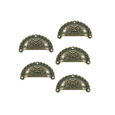 5 Muschel-Griffe Schubladengriffe Möbelgriffe Muschelgriff bronze Größenwahl – Bild 4
