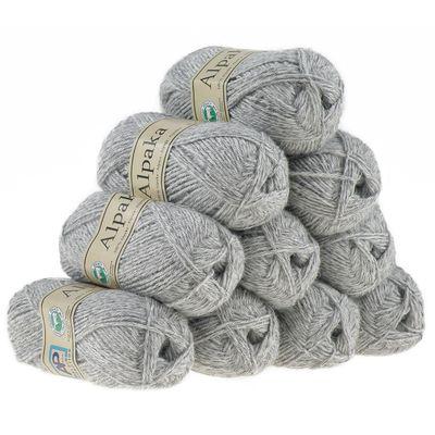 10 x 50g Strickgarn 100% Alpaka Wolle Alpakawolle Handstrickgarn Stricken Natur – Bild 20