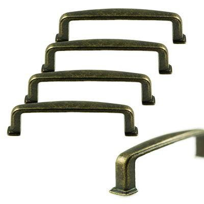 5 Metall-Griffe Bogengriffe antik bronze Schubladengriffe Schrankgriffe Möbelgriffe, Größenwahl – Bild 3