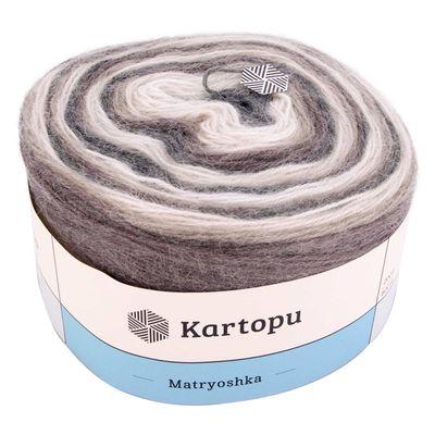 3 x 200g Strickgarn Kartopu Matryoshka Strickwolle Häkelgarn, langer Farbverlauf – Bild 5