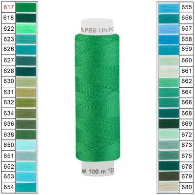 10 x 100m / 10 Spulen Unipoly 120 TEX14x2 Polyester Nähgarn Artikel 4v6 Farbwahl
