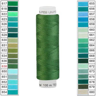 10 x 100m / 10 Spulen Unipoly 120 TEX14x2 Polyester Nähgarn Artikel 4v6 Farbwahl – Bild 13