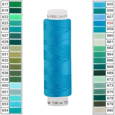 10 x 100m / 10 Spulen Unipoly 120 TEX14x2 Polyester Nähgarn Artikel 4v6 Farbwahl – Bild 22