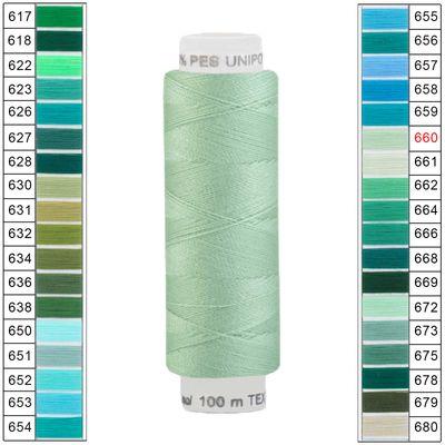 10 x 100m / 10 Spulen Unipoly 120 TEX14x2 Polyester Nähgarn Artikel 4v6 Farbwahl – Bild 24