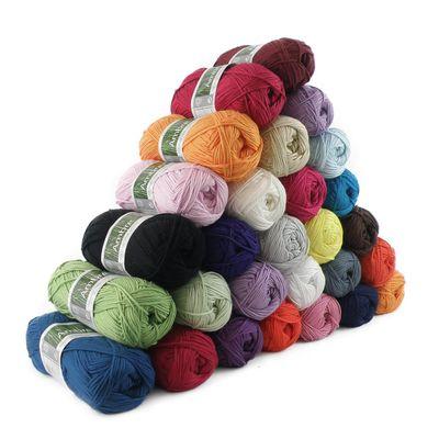 Strickgarn AMBRE 50g, 70% Bambus Viskose Wolle Strickwolle Häkelgarn Farbwahl – Bild 1