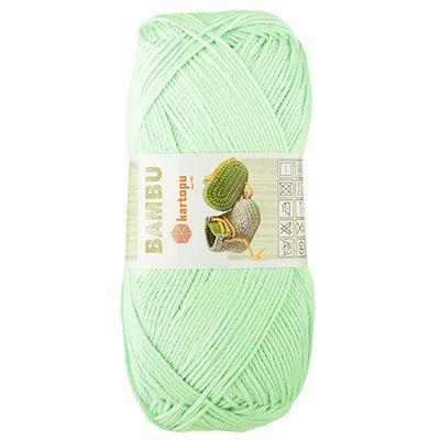 100g Strickgarn Häkelgarn Kartopu Bambu leichtes Garn, frische Farben, Bambus-Wolle – Bild 9