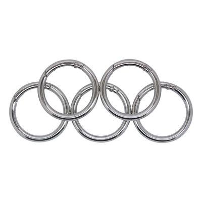 5 Ring Karabiner Innen-Ø 34mm Metall Ringkarabiner, Schlüssel, Tasche, Farbwahl – Bild 2