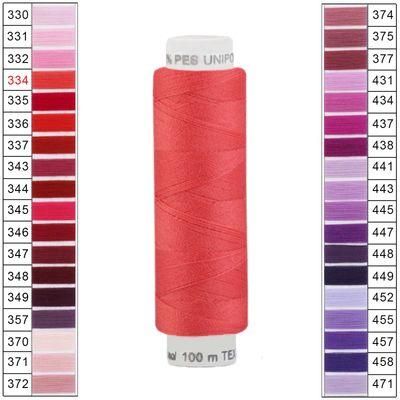 10 x 100m / 10 Spulen Unipoly 120 TEX14x2 Polyester Nähgarn Artikel 2v6 Farbwahl – Bild 4