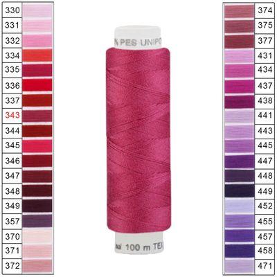10 x 100m / 10 Spulen Unipoly 120 TEX14x2 Polyester Nähgarn Artikel 2v6 Farbwahl – Bild 8
