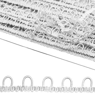 2m Schlingenband Gummi Ösen-Band Borte m. elastischen Ösen für Knöpfe 15mm – Bild 6